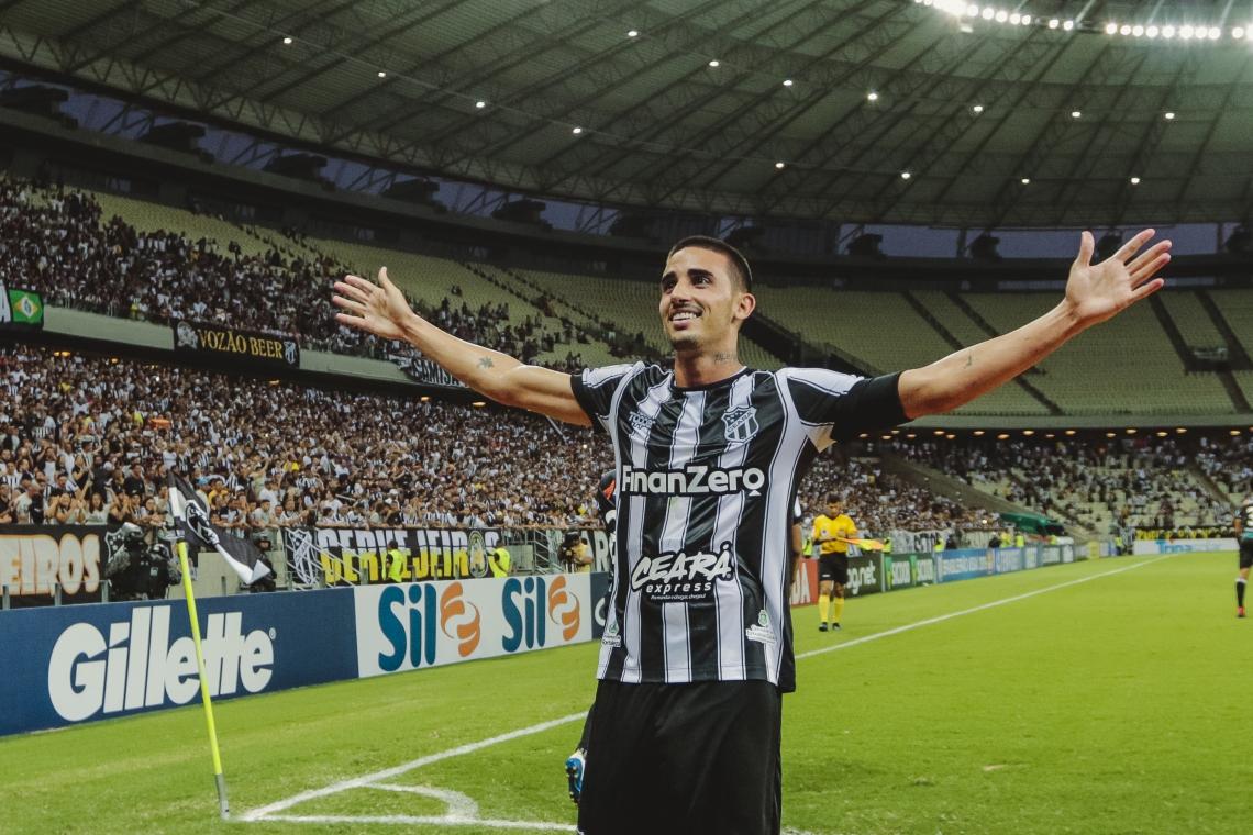 Galhardo é líder em gols e finalizações certas no Ceará