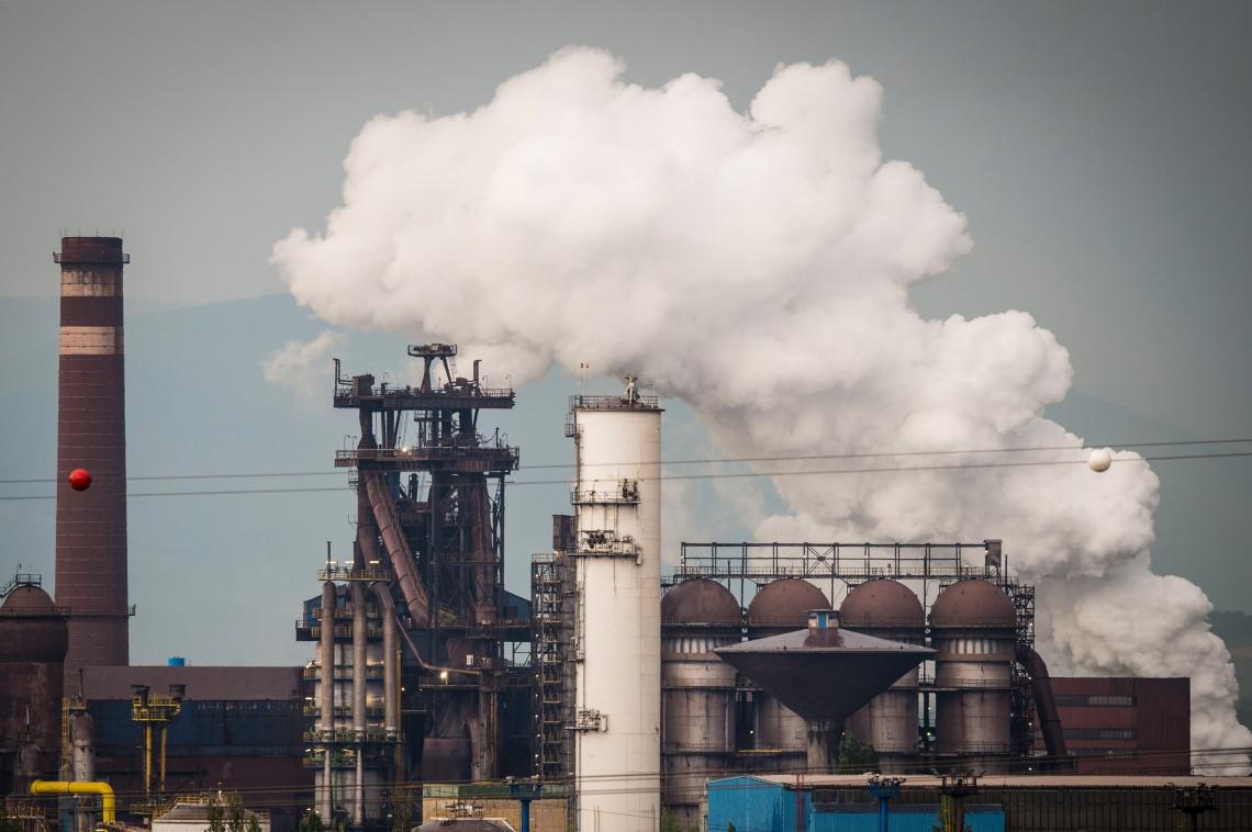 Usina siderúrgica US Steel Kosice em Kosice, leste da Eslováquia