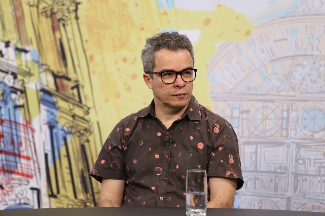 FORTALEZA, CE, BRASIL, 18-08-2017: Fabiano Piuba, secretário de Cultura do Estado. Programa de TV do Anuário do Ceará - TV O POVO. (Foto: Fábio Lima/O POVO)