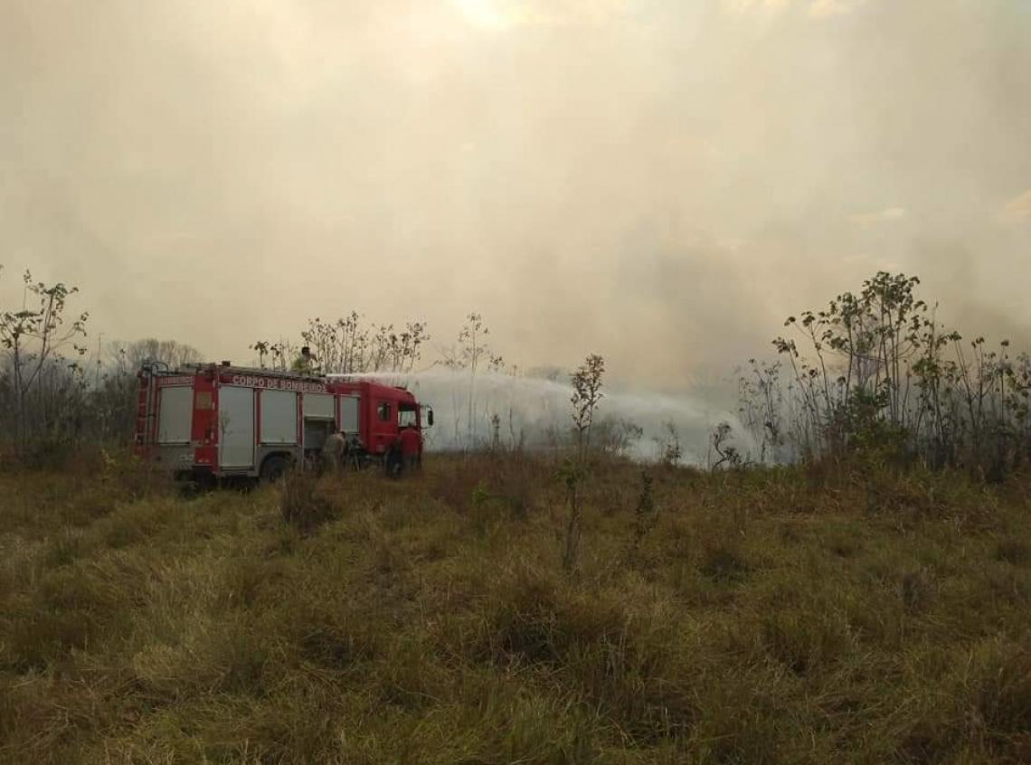 FORÇA-TAREFA dos Bombeiros trabalham no combate aos incêndios em Rondônia