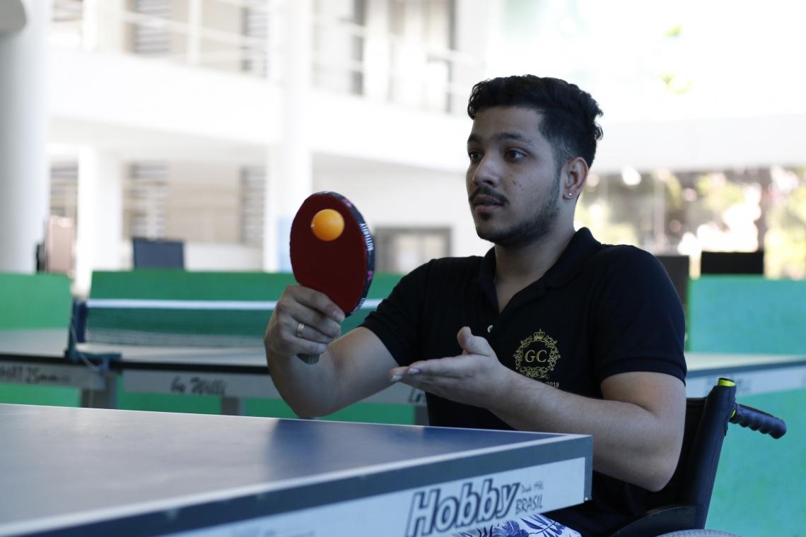 Caderno especial sobre inclusão no Esporte. Santiago Aprígio, paratleta