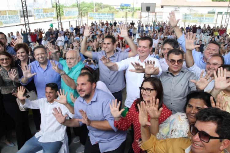 GILBERTO Kassab e Domingos Filho comandaram a festa de filiações ao PSD em Pacatuba