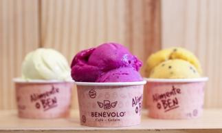 Benévolo Gelato tem sorveterias e gelatos com frutas da estação