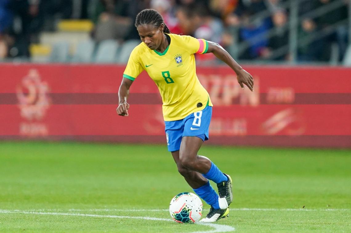 Formiga fez um dos gols do jogo Brasil x Polônia