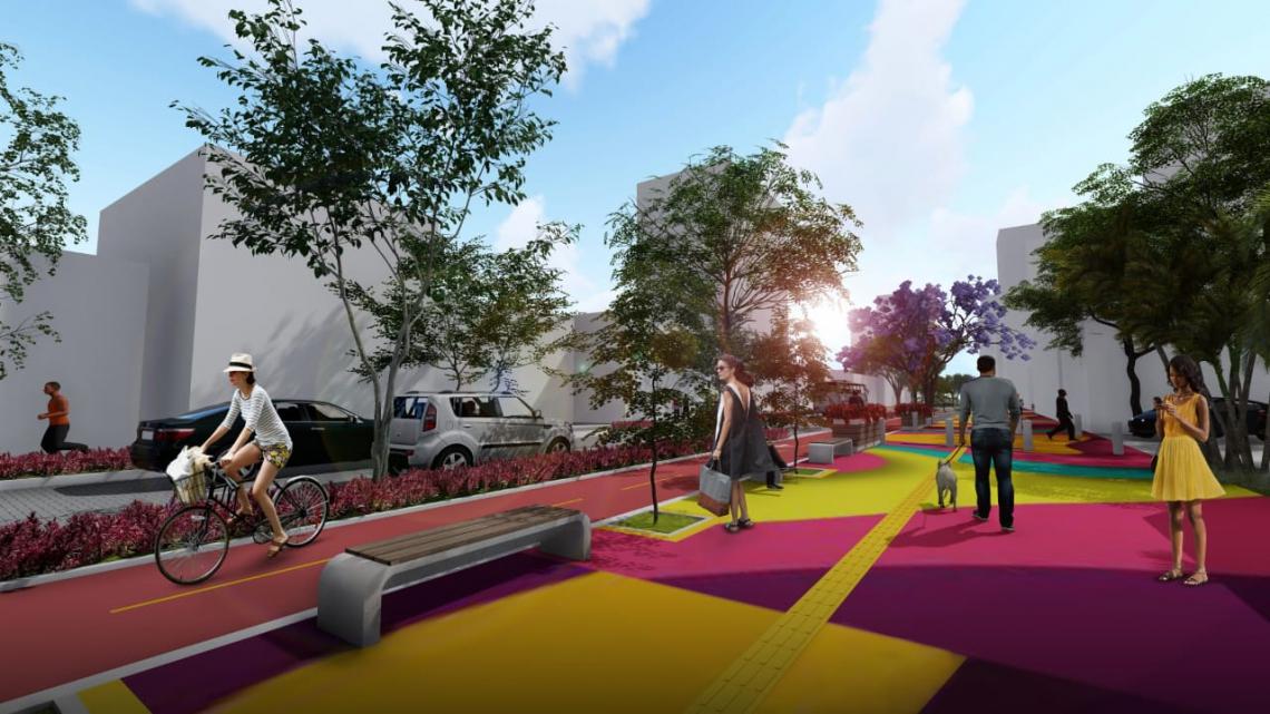 Redesenho urbano proposto para a avenida Desembargador Moreira prioriza pedestres e ciclistas
