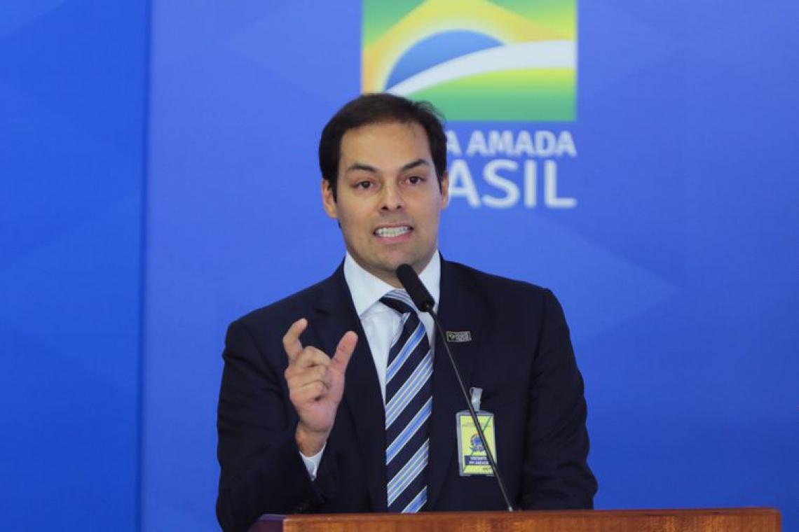 SECRETÁRIO especial de desburocratização, Paulo Uebel, na assinatura da medida provisória da liberdade econômica