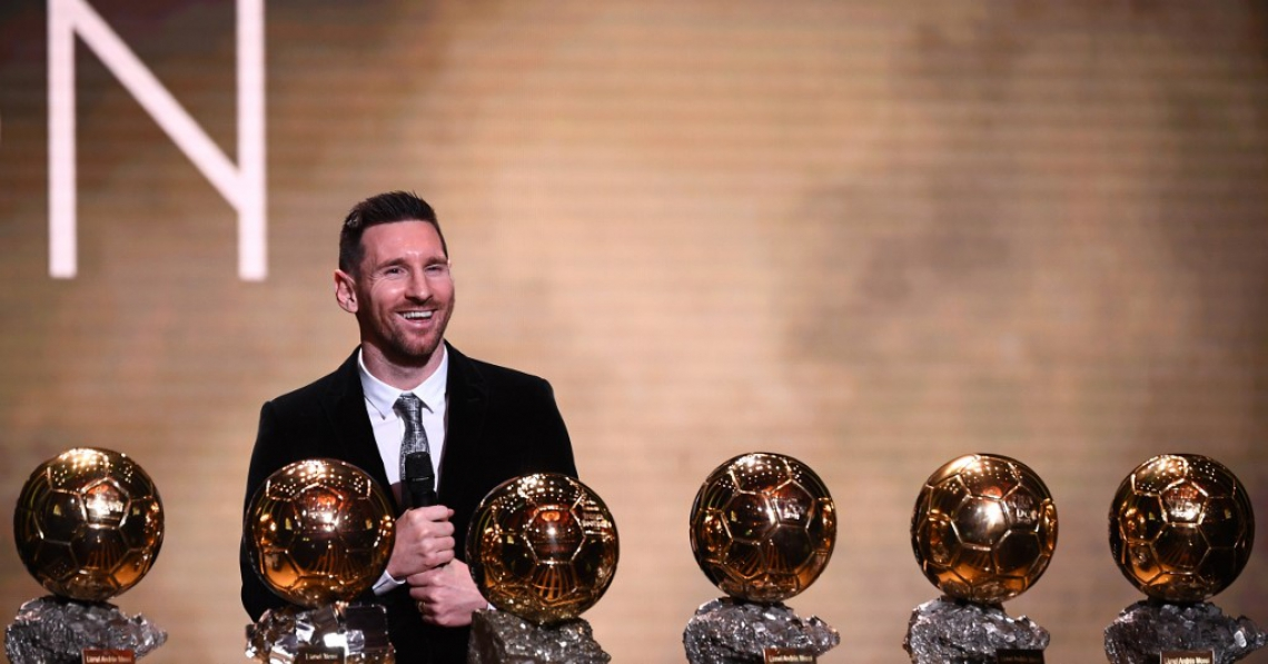 Messi chegou a seis bolas de ouro na carreira