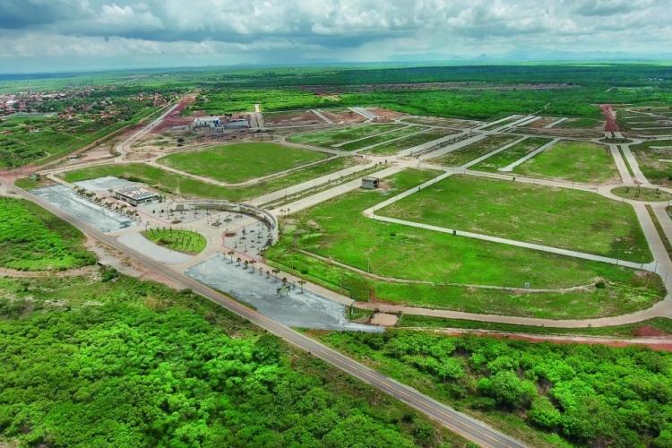 VISTA AÉREA da Smart City Laguna, em São Gonçalo do Amarante, ainda em construção: mais de 4 mil lotes vendidos