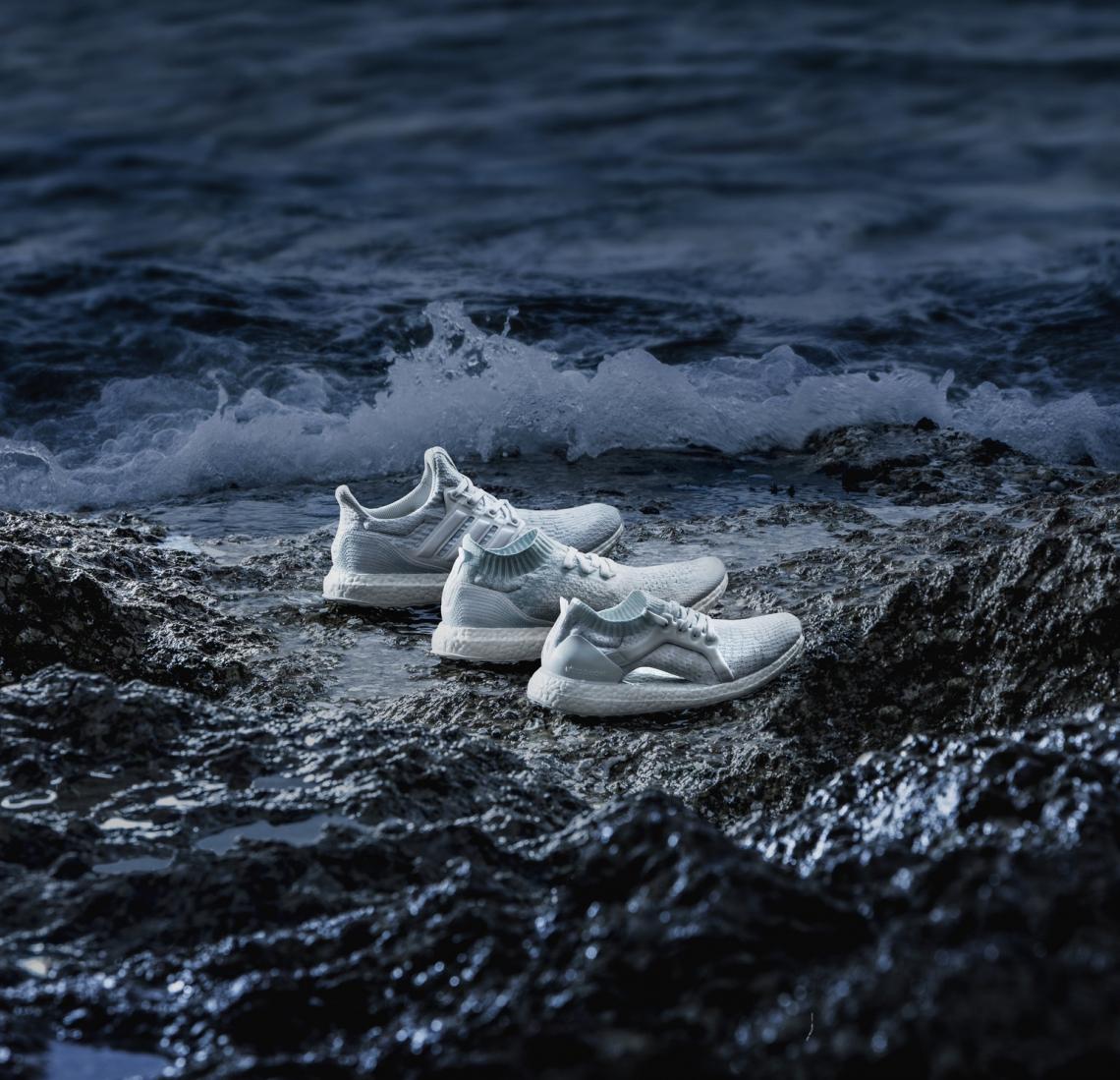 Da parceria Stella McCartney com @parley.tv: tênis feito a partir de plásticos encontrados no oceano