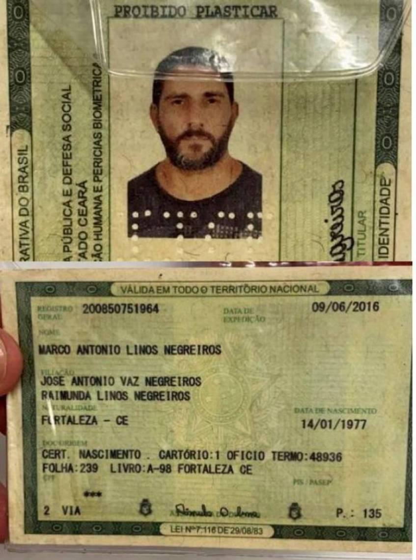 Documento foi encontrado após a fuga dele na Bahia