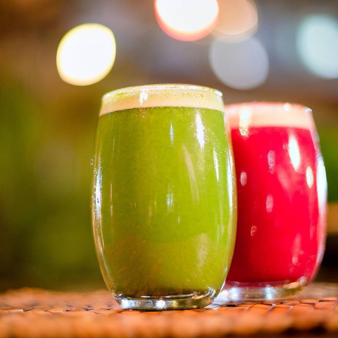 O restaurante Sabores Orgânicos oferece diversas opções de sucos