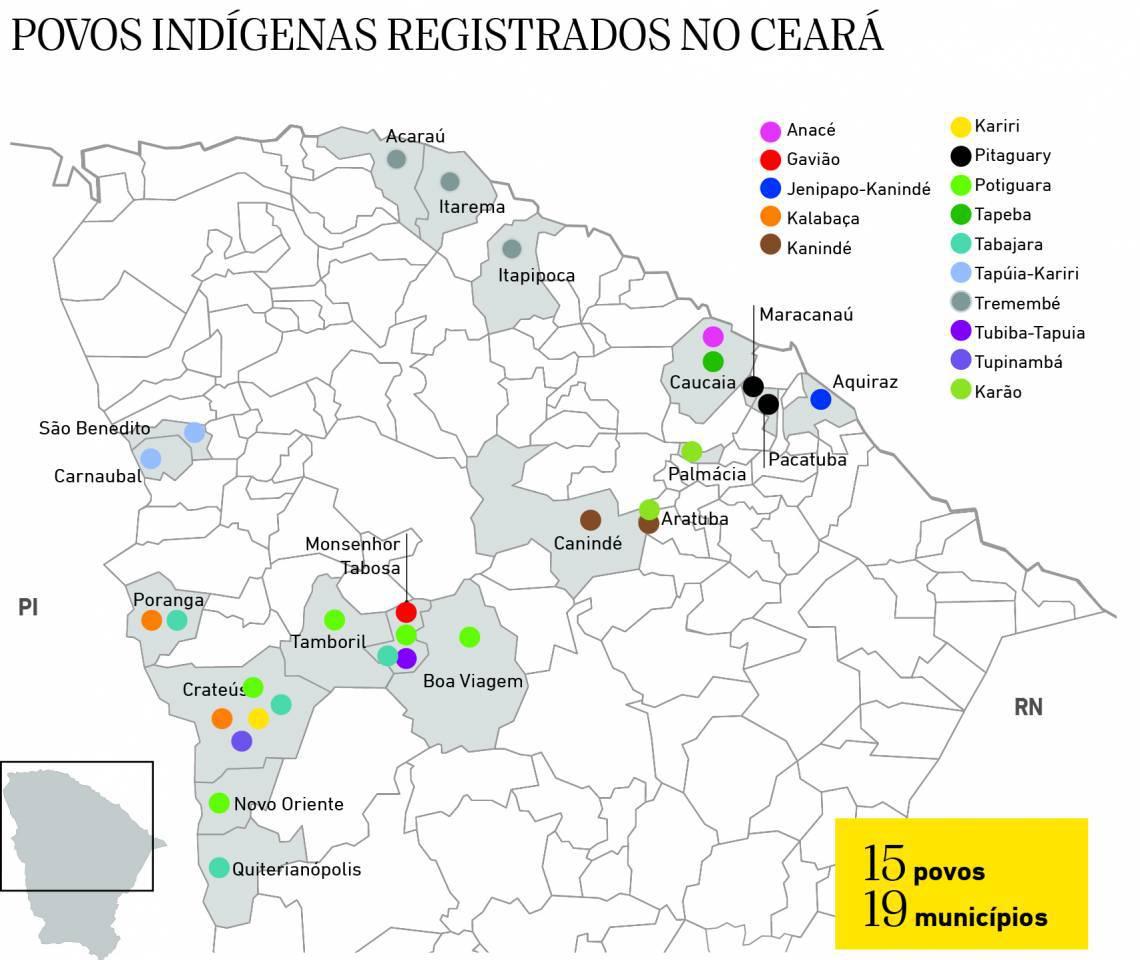 Mara dos povos indígenas registrados no Ceará