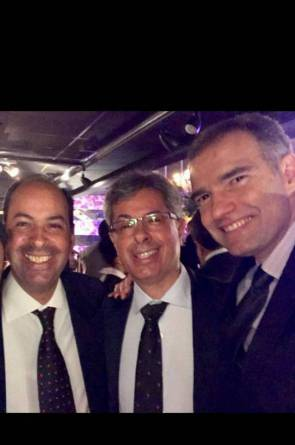 Trio cavalheiríssimo: Alcides, André Marinho e Eduardo Figueiredo