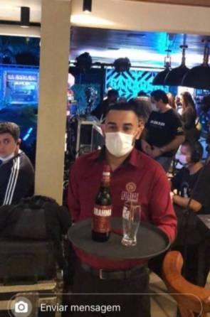 Foto dos bastidores da live do Jorge e Mateus.