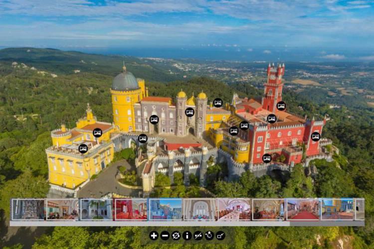 O Palácio da Pena é um dos destinos mais coloridos das terras portuguesas, localizado no topo da cidade de Sintra