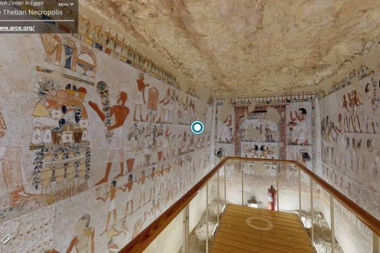 A tumba de Menna é de meados da 18ª dinastia real egípcia (Foto: Fotos reprodução internet)
