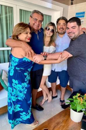França e Antonio Vasques com os filhos Leandro, Roberta e Eugênio