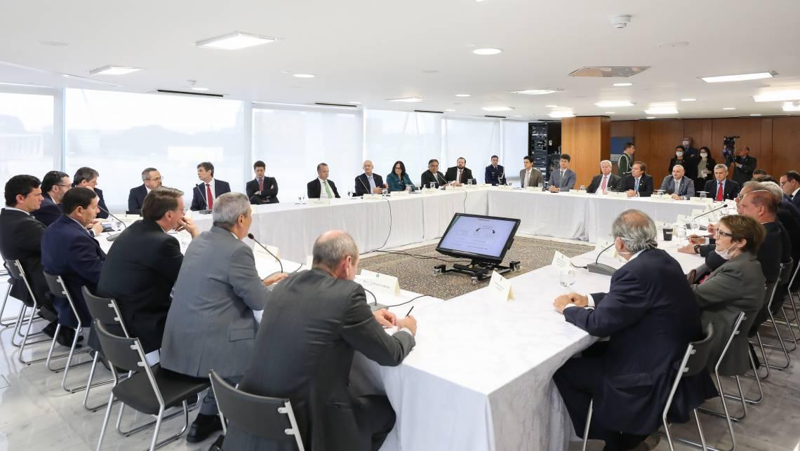 (Brasília - DF, 22/04/2020) - Reunião com Vice-Presidente da República, Ministros e Presidentes de Bancos..Foto: Marcos Corrêa/Presidência da República