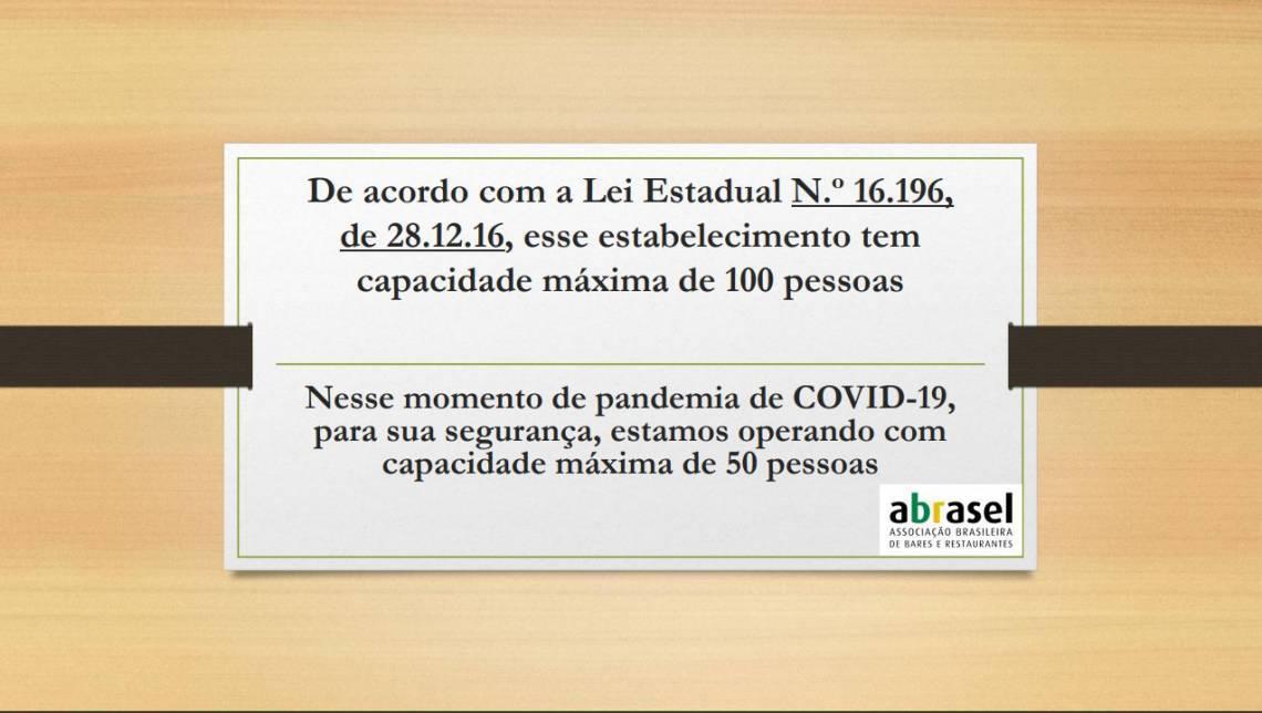 Veja placa proposta pela Abrasel para a retomada gradual das atividades dos bares e restaurantes no Ceará