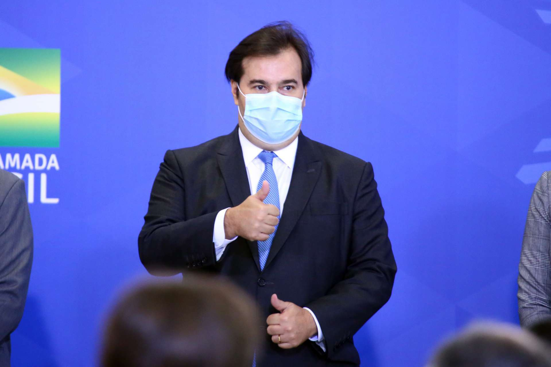 PRESIDENTE da Câmara, Rodrigo Maia reuniu lideranças para formar acordo por adiamento