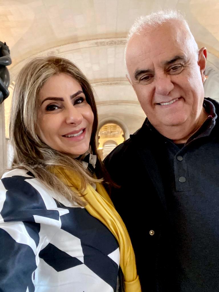 Denise Sahd, diretora de estilo, e Ricardo Sahd