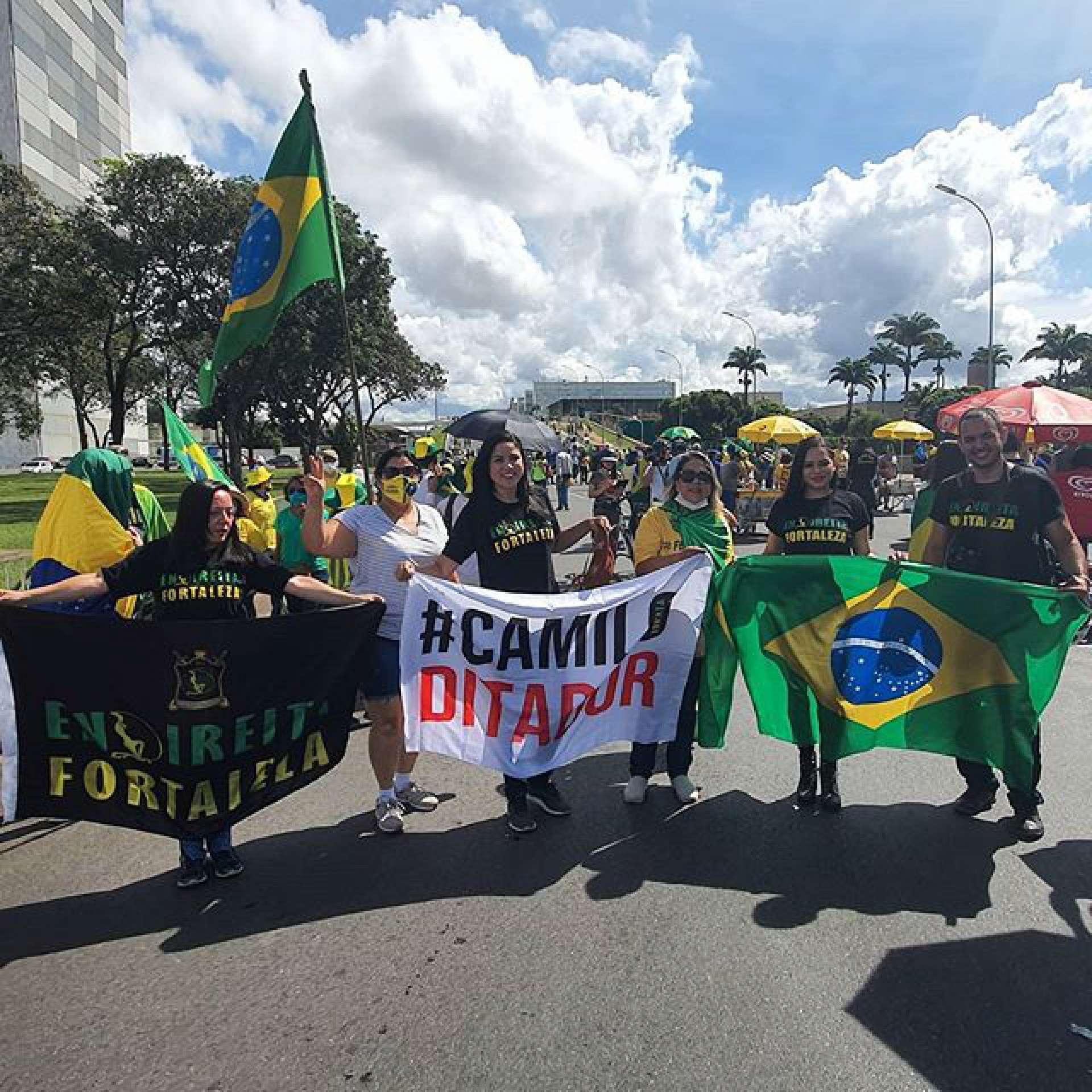Guilherme Julian marcou presença em recentes protestos contra o governador Camilo Santana e as medidas de distanciamento social impostas em decorrência da pandemia do novo coronavírus