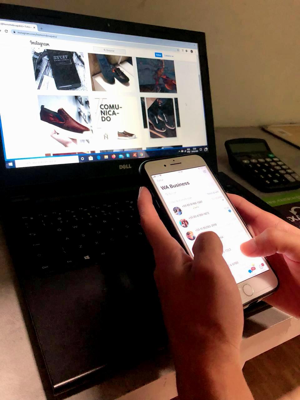 Presença on-line da marca (Homem do Sapato)