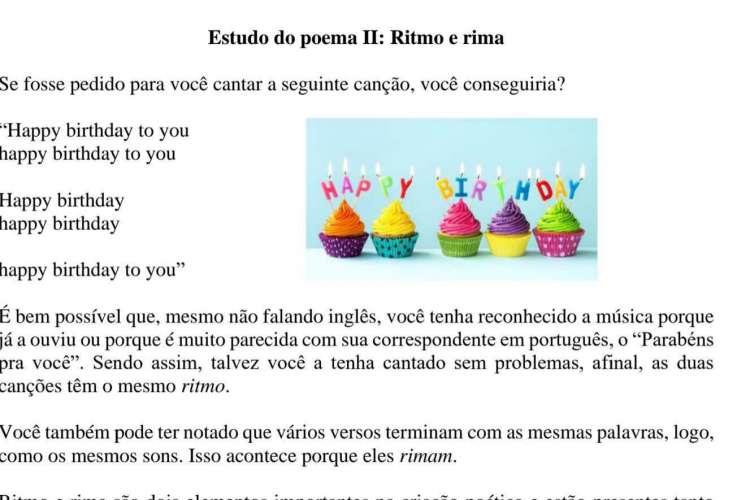Material em formato PDF que o professor da rede municipal de Fortaleza Pedro Silva repassa por Whatsapp aos alunos.(Foto: Reprodução)