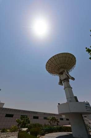 Vista parcial do Centro Espacial Mohammed Bin Rashid (MBRSC), na cidade do Golfo de Dubai