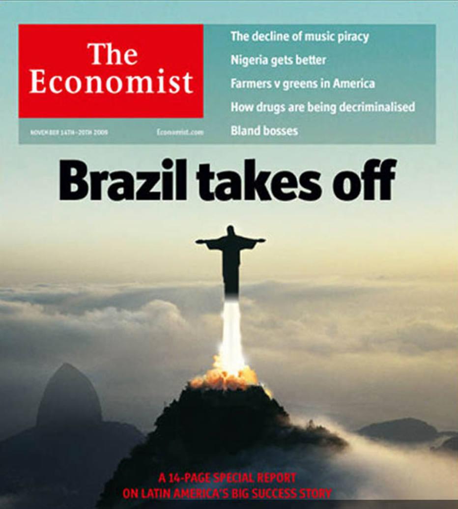 Capa de 2009 da revista trazia como manchete O Brasil decola, em referência ao crescimento econômico do País naquela década