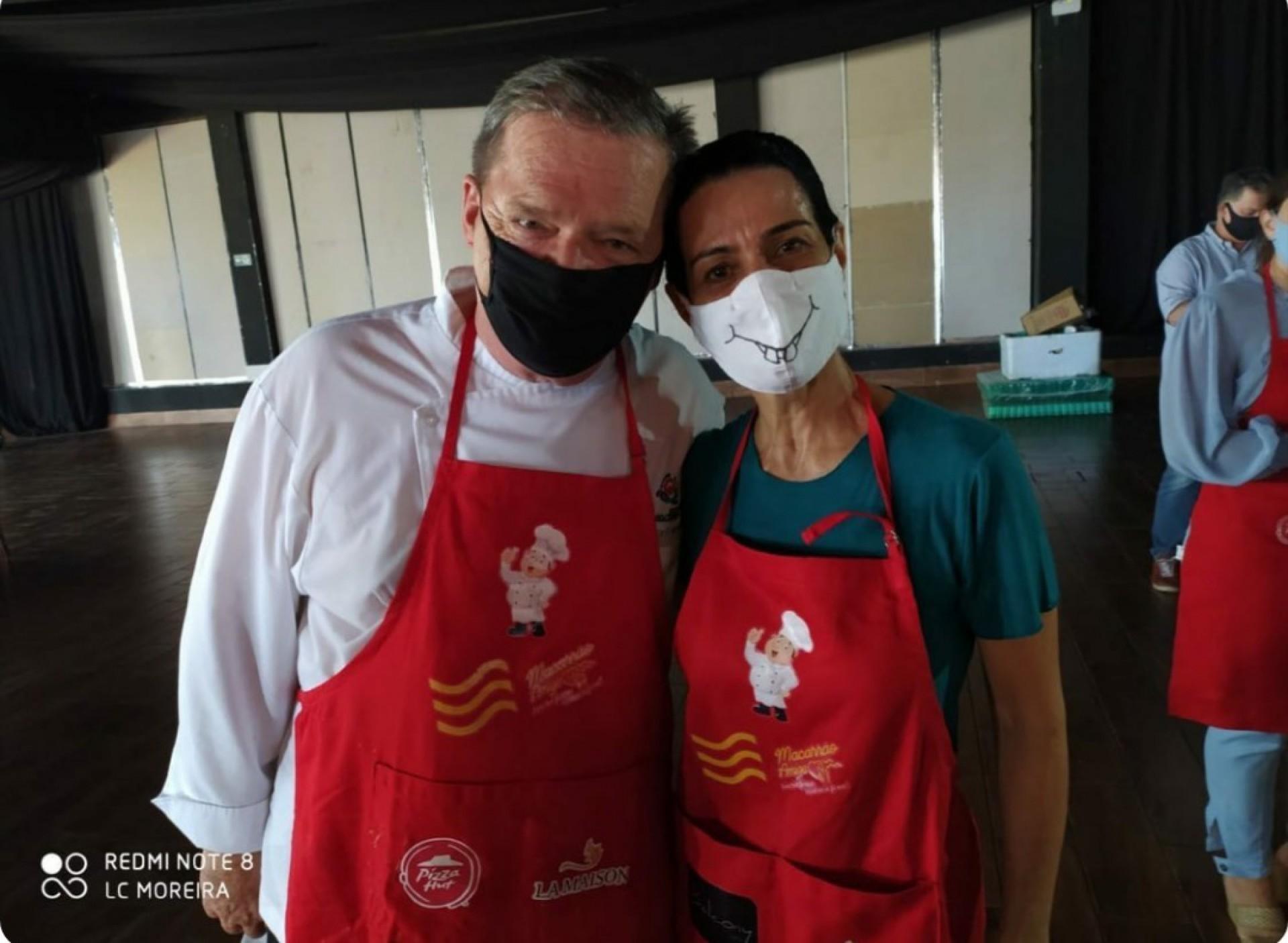 Bernard Twardy e Fernanda Zeballos participaram da penúltima edição do dia solidário (Foto: divulgação)