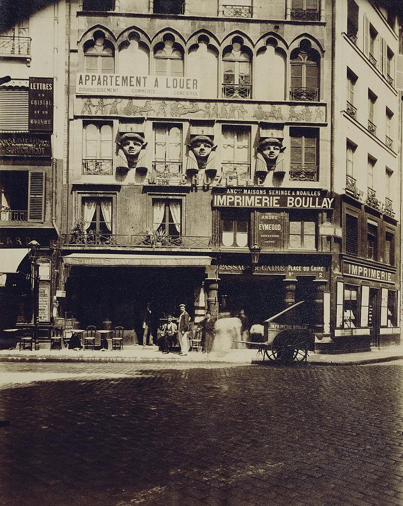 Place du Caire, em 1903, citada por Benjamin na obra Passagens