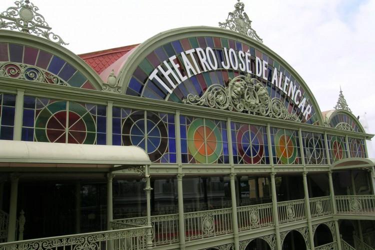 Entrada do Theatro José de Alencar (Foto: Jeferson Hamaguch)