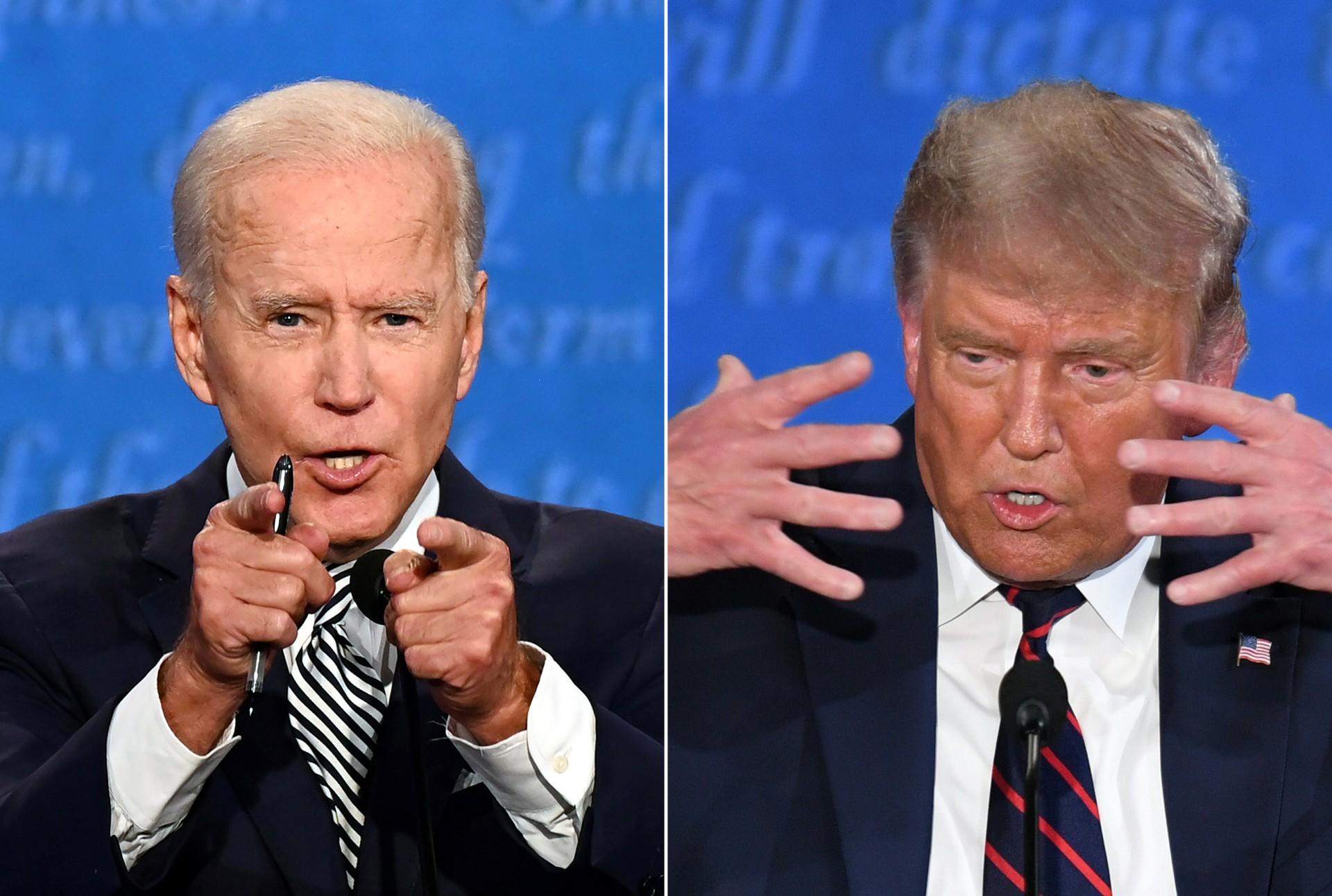 Debate EUA: Trump vs Biden