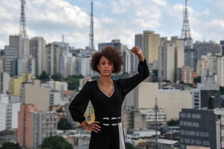 A vereadora trans Erika Hilton, eleita pelo PSOL, participa  do evento(Foto: NELSON ALMEIDA / AFP)