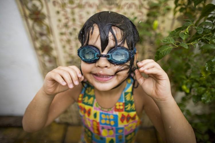 Raul Malu adora piscina e o mar