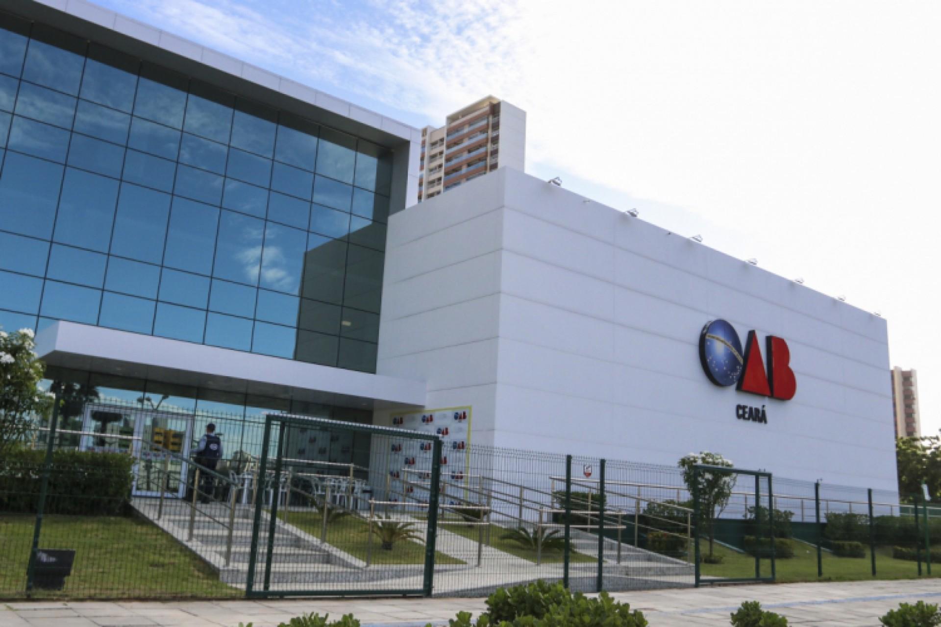 Sede da OAB Ceará: categoria articula candidaturas para eleição de novembro