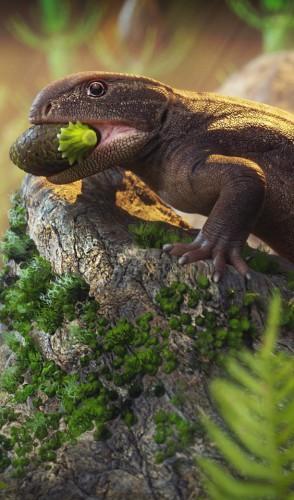 Oryporan insolitus: a mais recente descoberta, esse réptil é o primeiro a indicar especialização nos dentes para uma dieta herbívora.