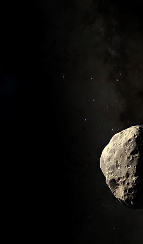 Ele tem 1 quilômetro de diâmetro, 550 metros de largura e viaja a 124 mil km/h na direção da Terra