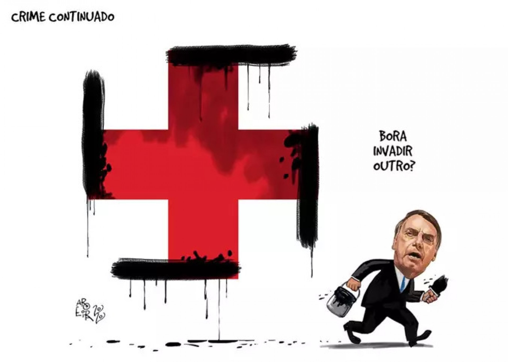 Charge de Renato Aroeira pode virar alvo de investigação pelo Governo Federal