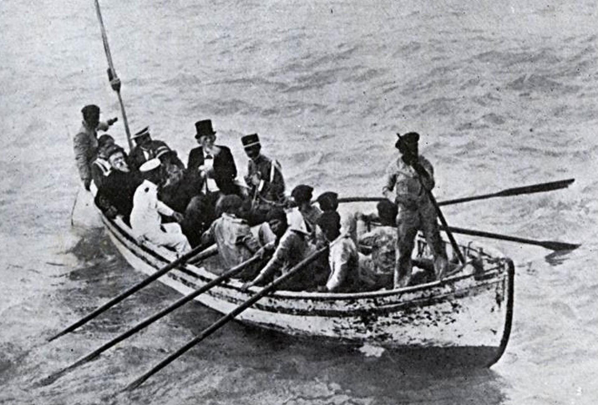 Acióli e família ao deixarem o Ceará em  janeiro de 1912