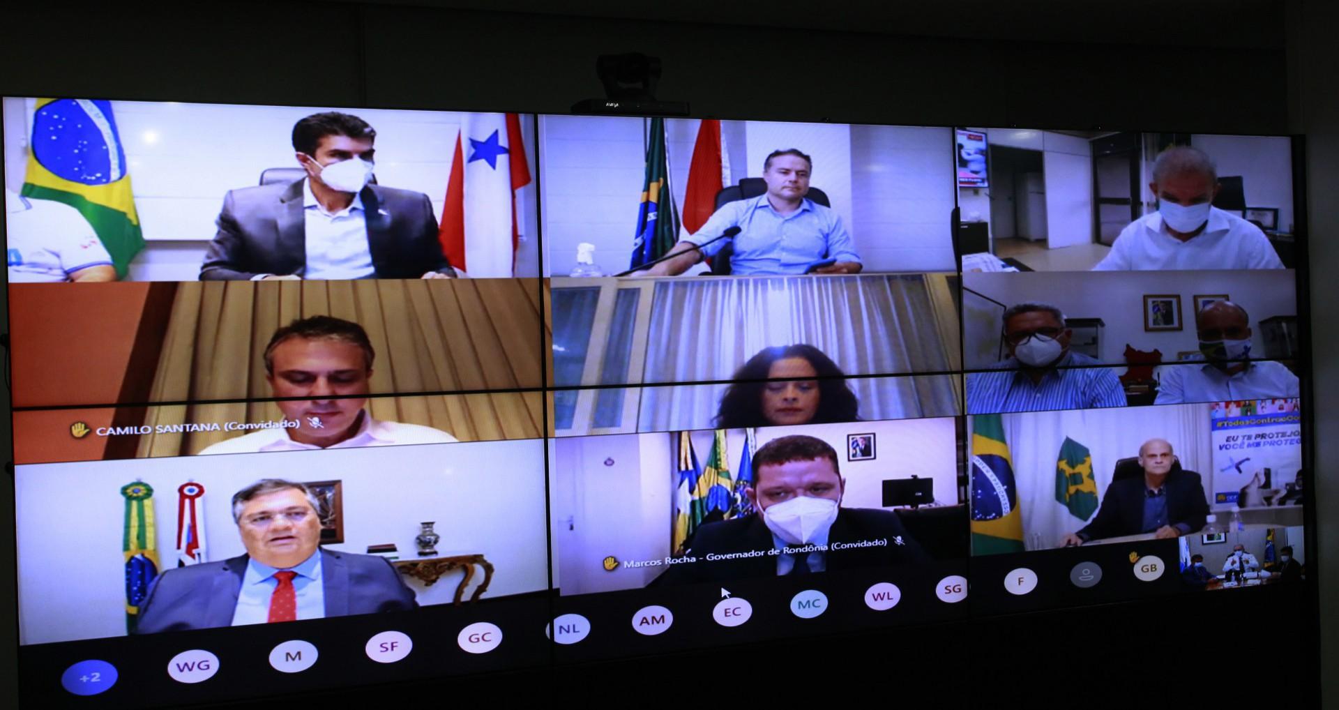 MINISTRO da Saúde, Marcelo Queiroga se reuniu com governadores do Nordeste na noite de ontem