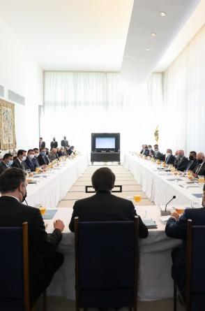 (Brasília - DF, 24/03/2021) Palavras do Presidente da República, Jair Bolsonaro..Foto: Marcos Correa/Presidência da República (Foto: Marcos Correa/Presidência da República)