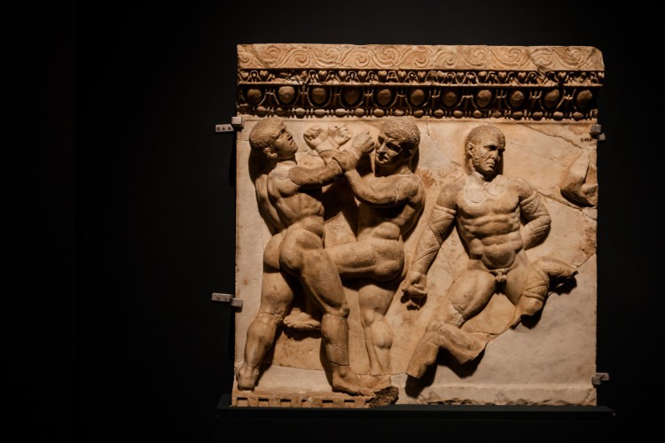 Exposição Os Jogos Olímpicos da Antiguidade - Roma e Grécia, com obras de grandes museus gregos e Italianos, algumas com mais 2.500 anos de idade; outras descobertas arqueológicas mais recente(Foto: Janine Moraes/MinC Divulgação)