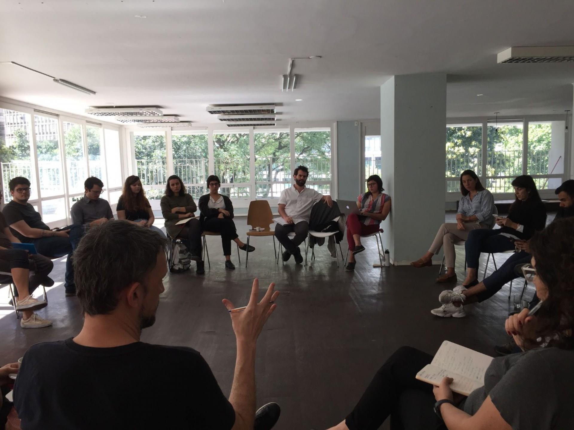 Equipe do Nexo Jornal, antes da pandemia de Covid-19.