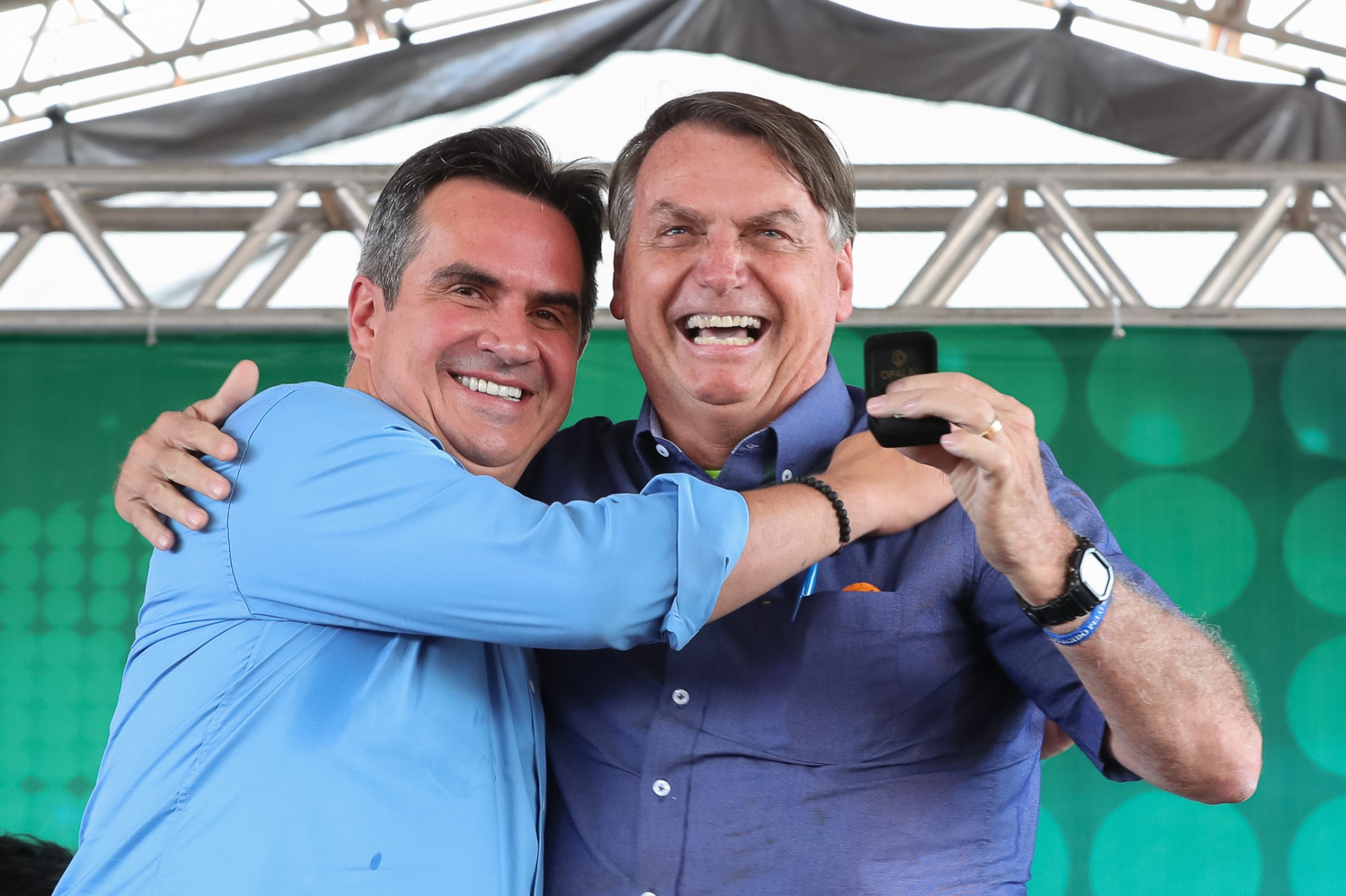 PRESIDENTE esteve ontem em evento no Piauí com o senador Ciro Nogueira, presidente do PP(Foto: Isac Nóbrega/Presidência da República)