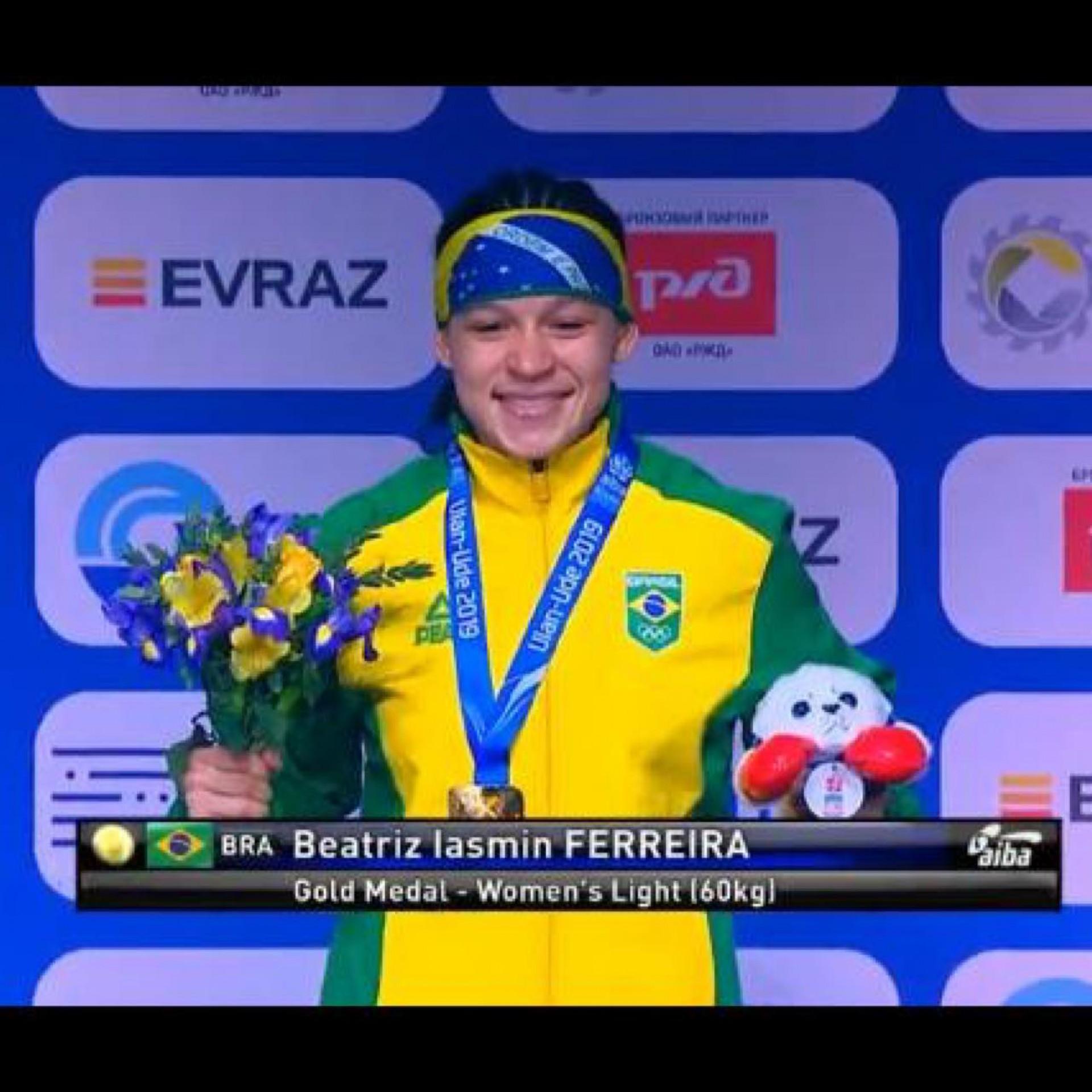 (Foto: Reprodução / Facebook)A boxeadora Beatriz Ferreira entra como favorita ao ouro olímpico