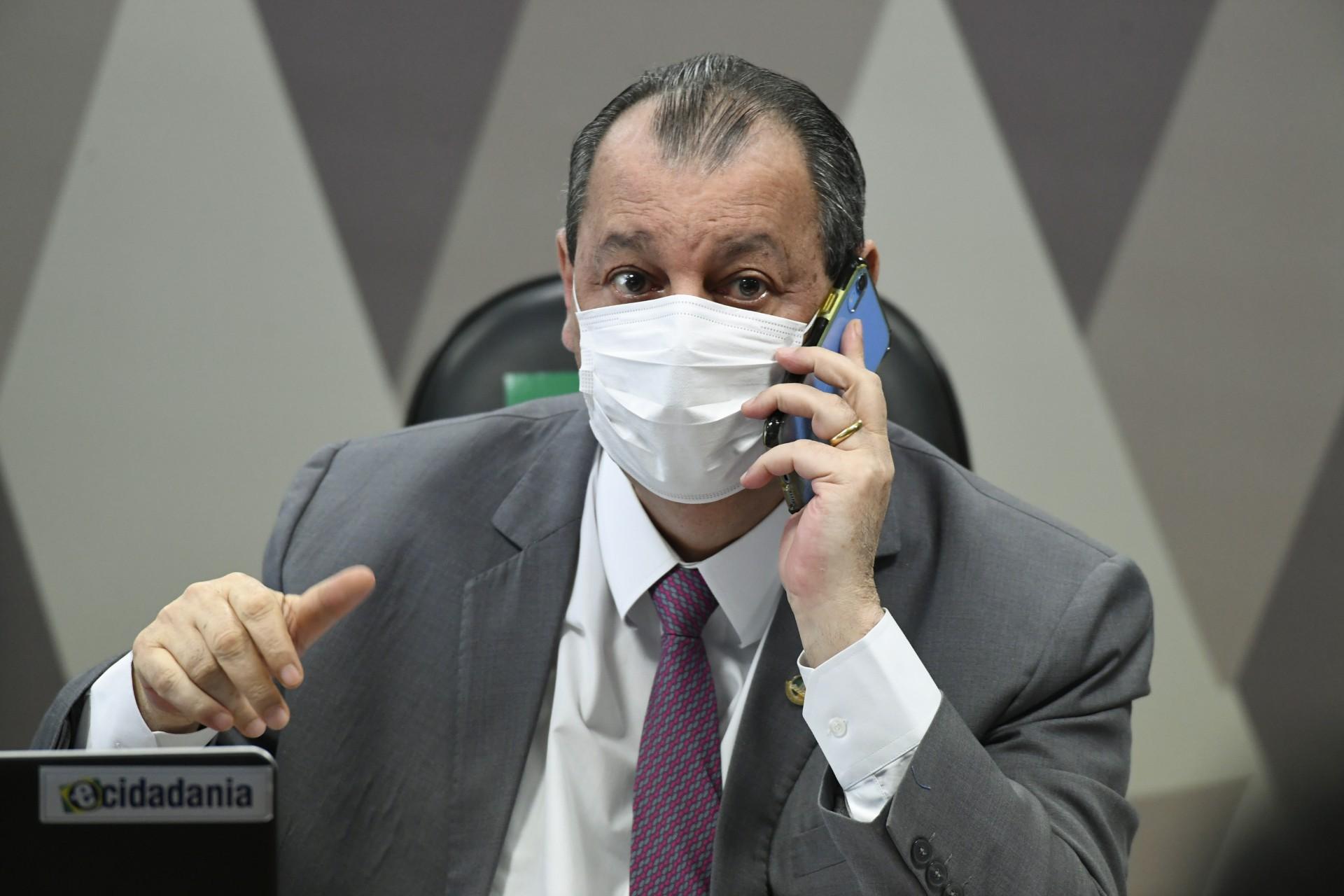 PRESIDENTE da CPI, Omar Aziz criticou o Carlos Wizard por não ter comparecido ao depoimento