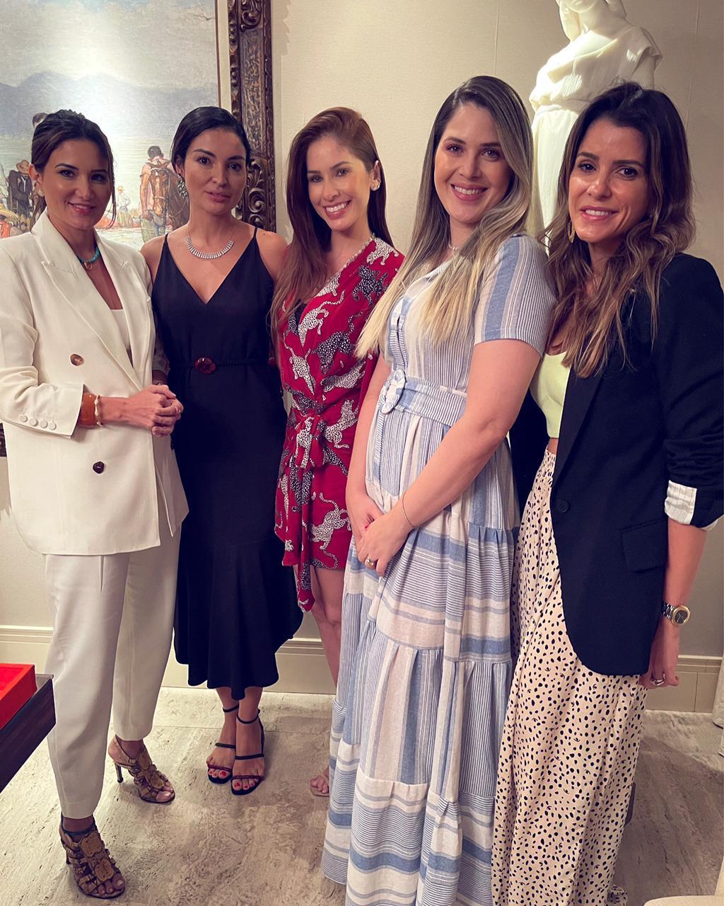 (Foto: arquivo pessoal)Aline Pinho, Ylka Franck, Heide e Mila Bitu, Tatiana Machado