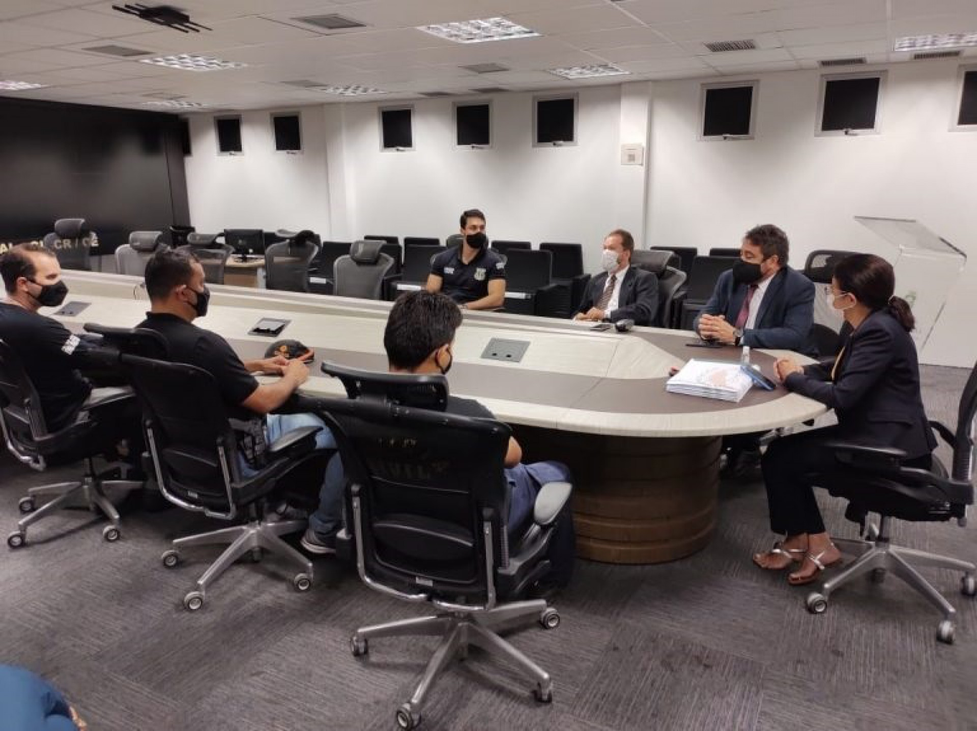 Reunião traçou diretrizes da operação (Foto: Divulgação/MPCE)